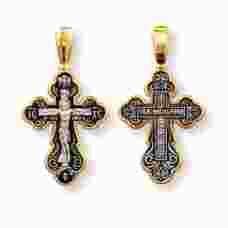 Крест православный серебро «Спаси и сохрани» (арт. 13112-186)