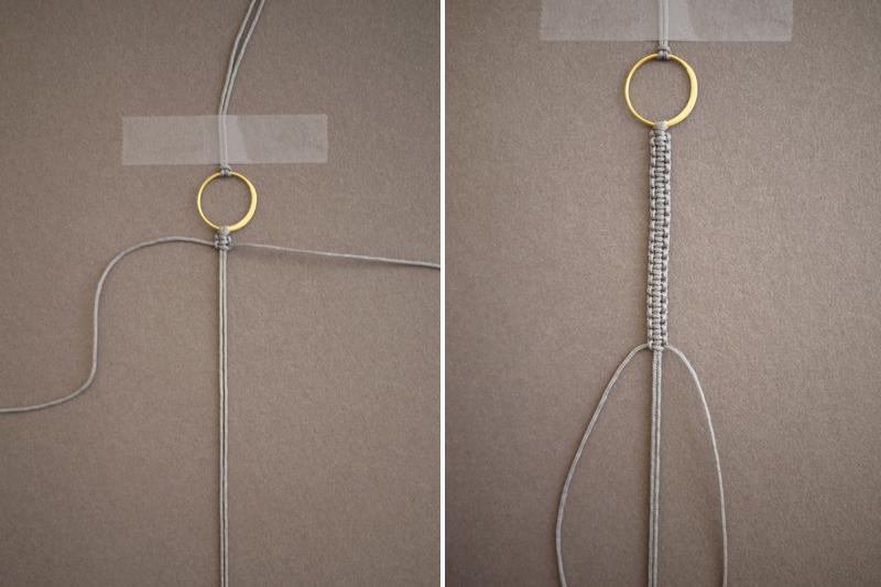 Как сделать застежку на браслет из ленточек